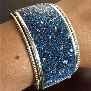 BRIGHTON Beautiful Crystal Medley Bangle Bracelet